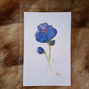 New watercolor floral art print